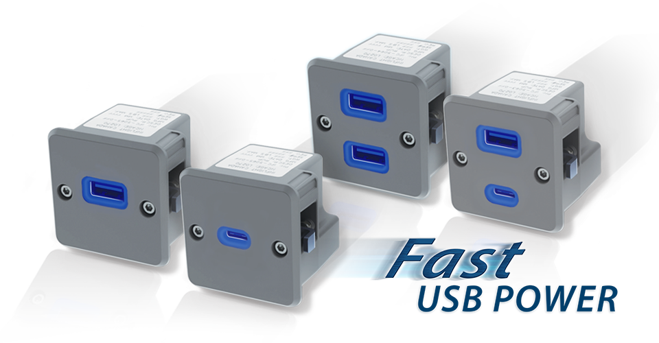 2.1 AMPs USB power Type A and 3.0 AMPs USB power Type C